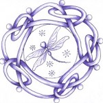 Dragonfly symbol drawn by my fabulously talented mother