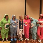 Playing bingo with Care Bears at RAGT18