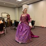 17th century mantua gown - Romancing Williamsburg 2019